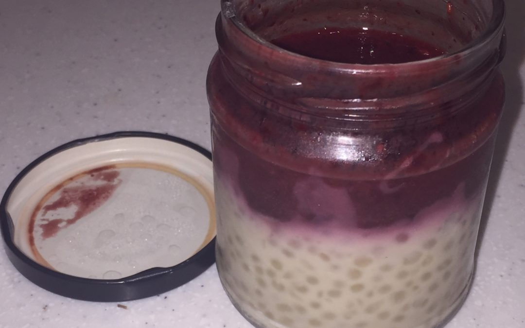 Coconut Tapioca Pudding (with fruit) – Vegan